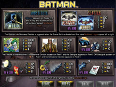 Batman paytable