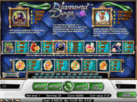 Diamond Dogs paytable
