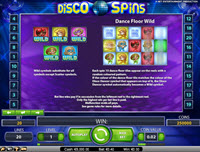 Disco Spins paytable