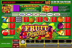 Fruit Fiesta 5 Reel paytable