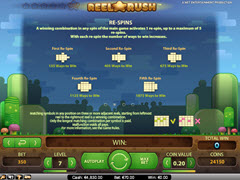 Reel Rush paytable