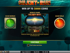Silent Run Paytable