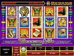 Treasure Nile 5 Reel pokie