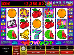 Wowpot 5 reel pokie