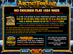 Arctic Fortune Paytable