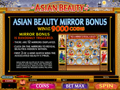 Asian Beauty paytable