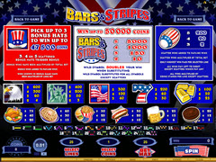Bars and Stripes paytable