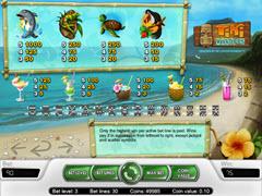 Tiki Wonders Paytable