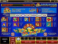cashsplash paytable
