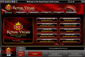 Royal Vegas Progressive Games