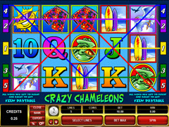 Crazy Chameleons pokie