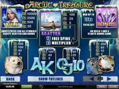 Arctic Treasure paytable