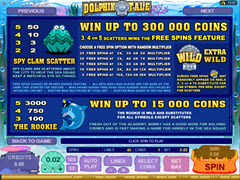 Dolphin tale paytable