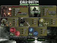 Call of duty 4 paytable
