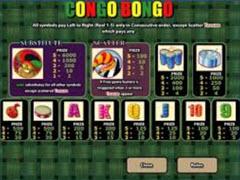 Congo Bongo Paytable
