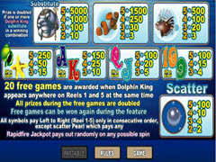 Dolphin King  paytable