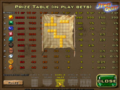 Jewel Quest  paytable
