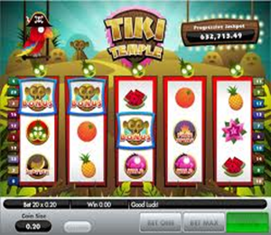 Tiki temple pokie