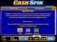 Cash spin bonus