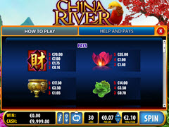 China River  paytable