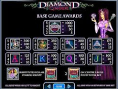 Diamond Queen paytable
