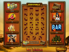 Hot Tequila paytable