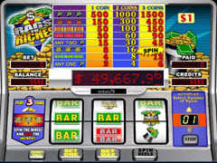 Rags to Riches 3 reel pokie