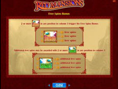 Red Mansions bonus
