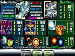 Silver Surfer paytable