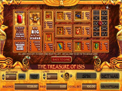 Treasure of isis paytable
